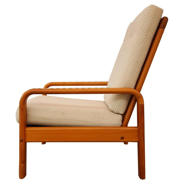 Danish Modern High Back Lounge Chair For Sale At 1stdibs