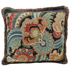 18th Century French Needlework Tapestry Decorative Pillow