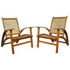"Carl Koch Pair of ""Sno-Shu"" Chairs and Ottoman"