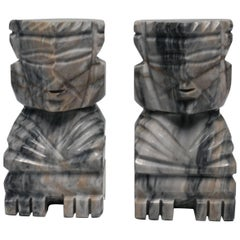 Tribal Marble Bookends