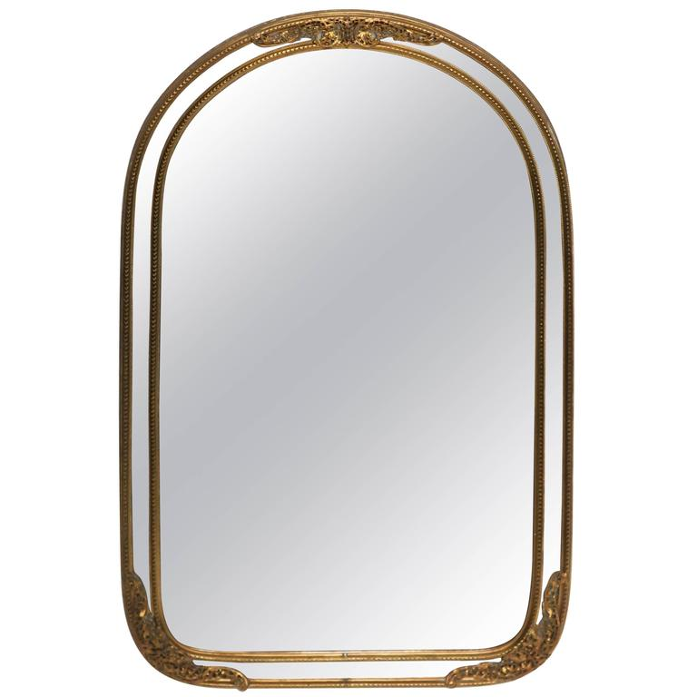 Antique brass wall or vanity mirror for sale at 1stdibs for Mirrors for sale