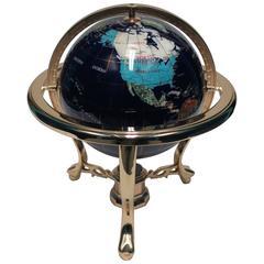 Beautiful World Globe Of Marble and Onyx