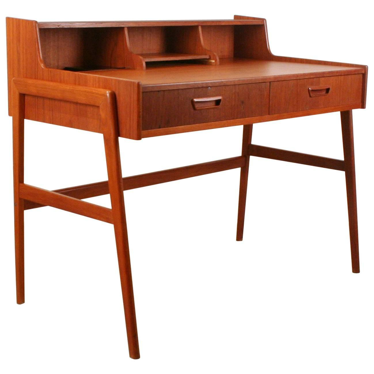 Vintage Writing Desk ~ Vintage danish teak writing desk for sale at stdibs