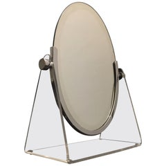 Acrylic and Chrome Vanity Mirror by Charles Hollis Jones