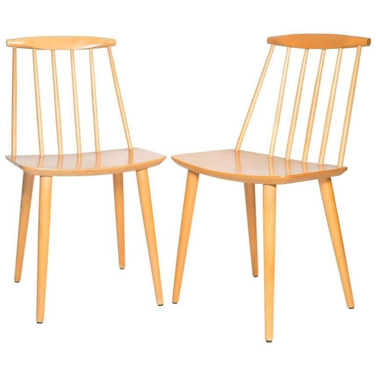 Pair of Folke Palsson J77 Dining Chairs