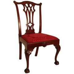 Walnut Chippendale Side Chair