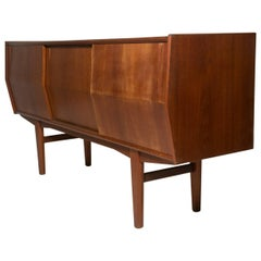 Rare Architectural Danish Modernist Credenza in Teak