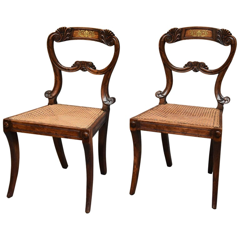 Pair of 19th Century Simulated Rosewood Regency Chairs in the Manner of Gillows For Sale