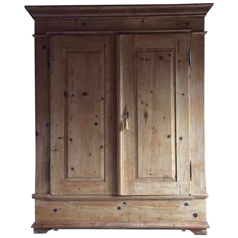 antique french cupboard wardrobe armoire dresser pine. Black Bedroom Furniture Sets. Home Design Ideas