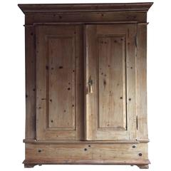 Antique French Cupboard Wardrobe Armoire Dresser Pine Large