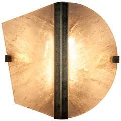 """Twobe"" Wall Sconce, brass, Rock Crystal, 50x50cm, handmade in tuscany, italy"