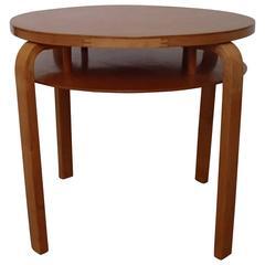 Mid-Century Original Alvar Aalto Round Table Birch