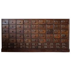 German Oak Apothecary Cabinet, 1900s