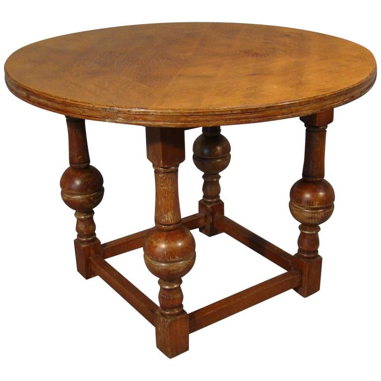 Art Deco Oak Gueridon, circa 1940, in the Style of Jean Charles Moreux