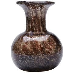 Ercole Barovier Reddy Brown Effeso Art Glass Vase, circa 1968