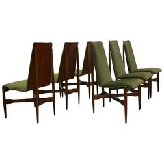 Set of Six Mid-Century Bentwood Dining Chairs by Kodawood