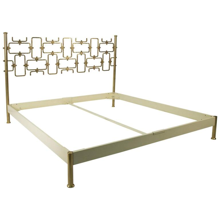 Hammered Bronze Bed by Osvaldo Borsani and Arnaldo Pomodoro, Tecno ...