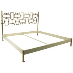 Hammered Bronze Bed by Osvaldo Borsani and Arnaldo Pomodoro, Tecno, 1960