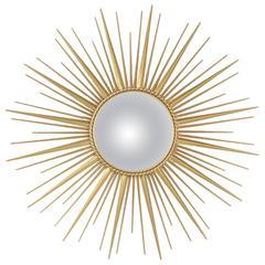 Sunburst Convex Mirror from 1980