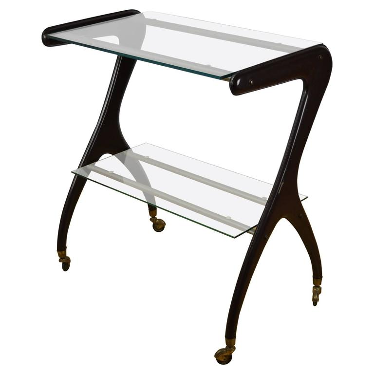 Carlo Mollino style Drinks Trolley, Side Table