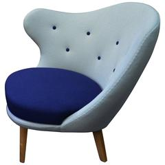 Very Unique Arne Norell Asymmetrical and Sculptural Armchair, 1940s
