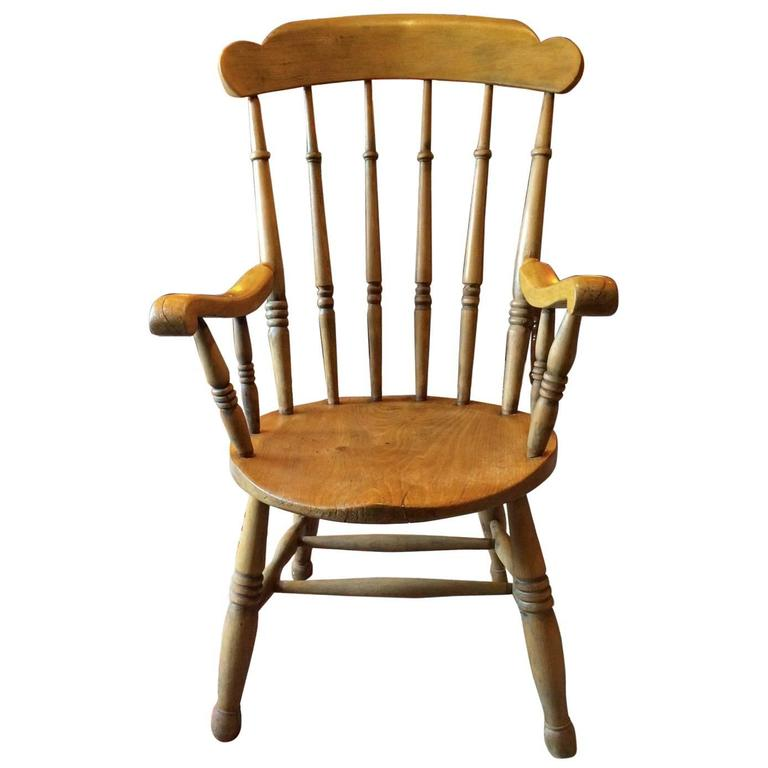 Antique Windsor Chair Pine Armchair, 19th Century Victorian For Sale - Antique Windsor Chair Pine Armchair, 19th Century Victorian At 1stdibs