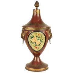 Early 19th Century English Regency Tole Chestnut Urn