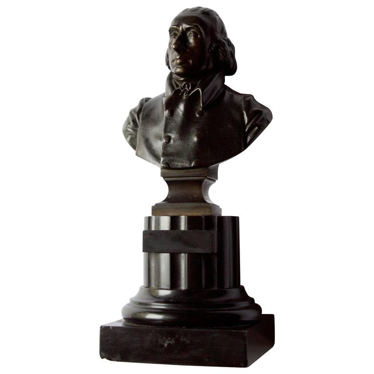19 Century French Thomas Jefferson Bust in Bronze 1
