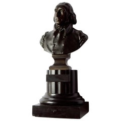 19 Century French Thomas Jefferson Bust in Bronze