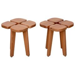 One of two pairs of Lisa Johansson-Pape Stools, Finland, 1950