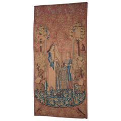 "Large Medieval Style Belgian Wall Hanging Tapestry ""The Lady and the Unicorn"""