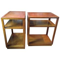 Pair of Custom Order Side Tables by Dunbar