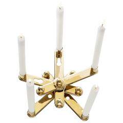 Candleholder in Polished Varnished Brass Limited Edition of 75 by Bd Barcelona