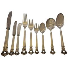 Monica by Cohr Danish Sterling Silver Flatware Set for 12 Service, 114 pcs