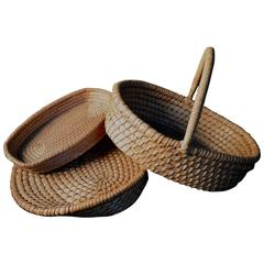 Group of Three Belgian Farm Baskets