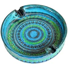 Aldo Londi for Bitossi Large Rimini Blu Ashtray