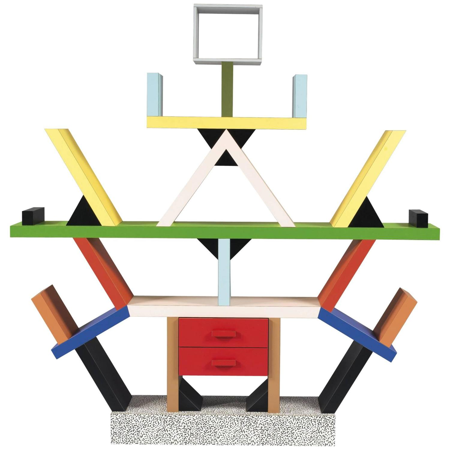 memphis design furniture. 1981, Ettore Sottsass, Memphis \u0027Carlton\u0027 Bookshelf, Vintage Production Design Furniture A