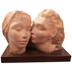 Stucco Sculpture of Two Women, by Dorothea Greenbaum