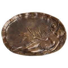 Art Nouveau Bronze Tray by Émile Vernier, '1852-1927'