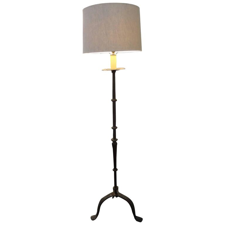 19th century french wrought iron candlestick floor lamp at 1stdibs 19th century french wrought iron candlestick floor lamp for sale aloadofball Image collections