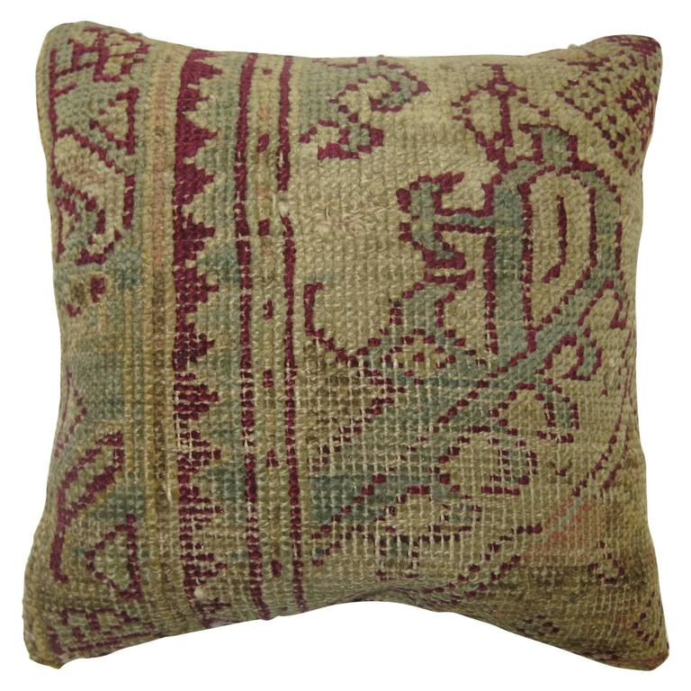 Ghiordes Rug Pillow