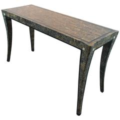 Klismos Tessellated Marble Console Table by Maitland-Smith