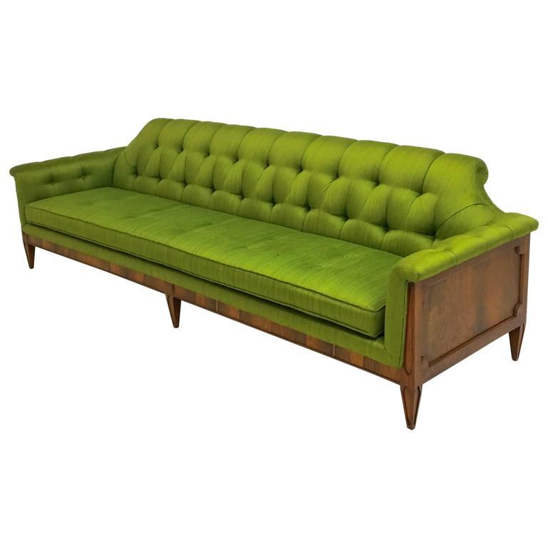 Mid Century Hollywood Regency Style Tufted Sofa 1