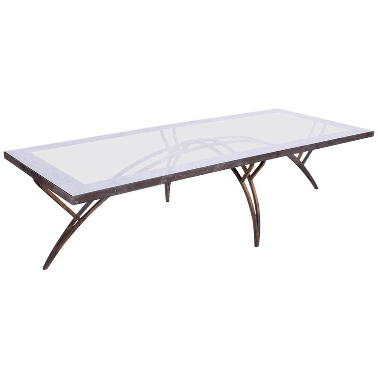 Mexican Modernist Rectangular Coffee Table Attributed to Arturo Pani