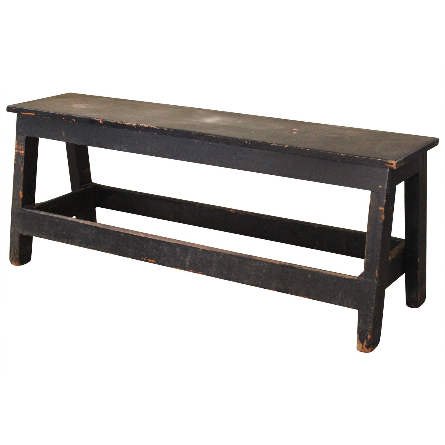 Sandy My Love Vintage Industrial Low Work Bench Wooden Table For Sale At 1stdibs