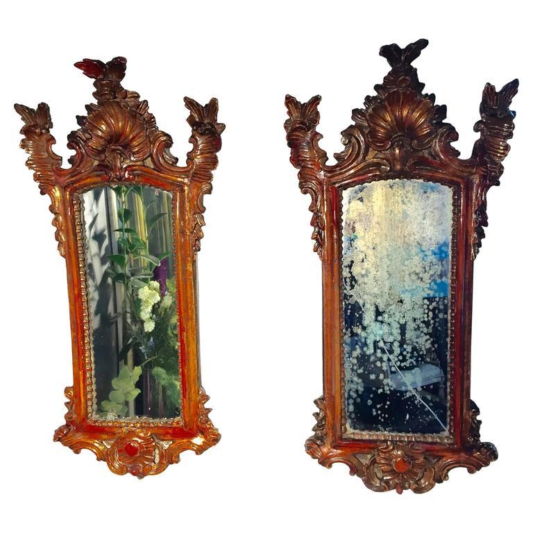 Pair of Baroque Mirrors