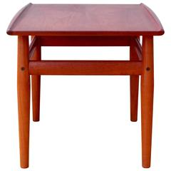 Mid-Century Danish Solid Teak Side or End Table by Grete Jalk for Glostrup 1960s