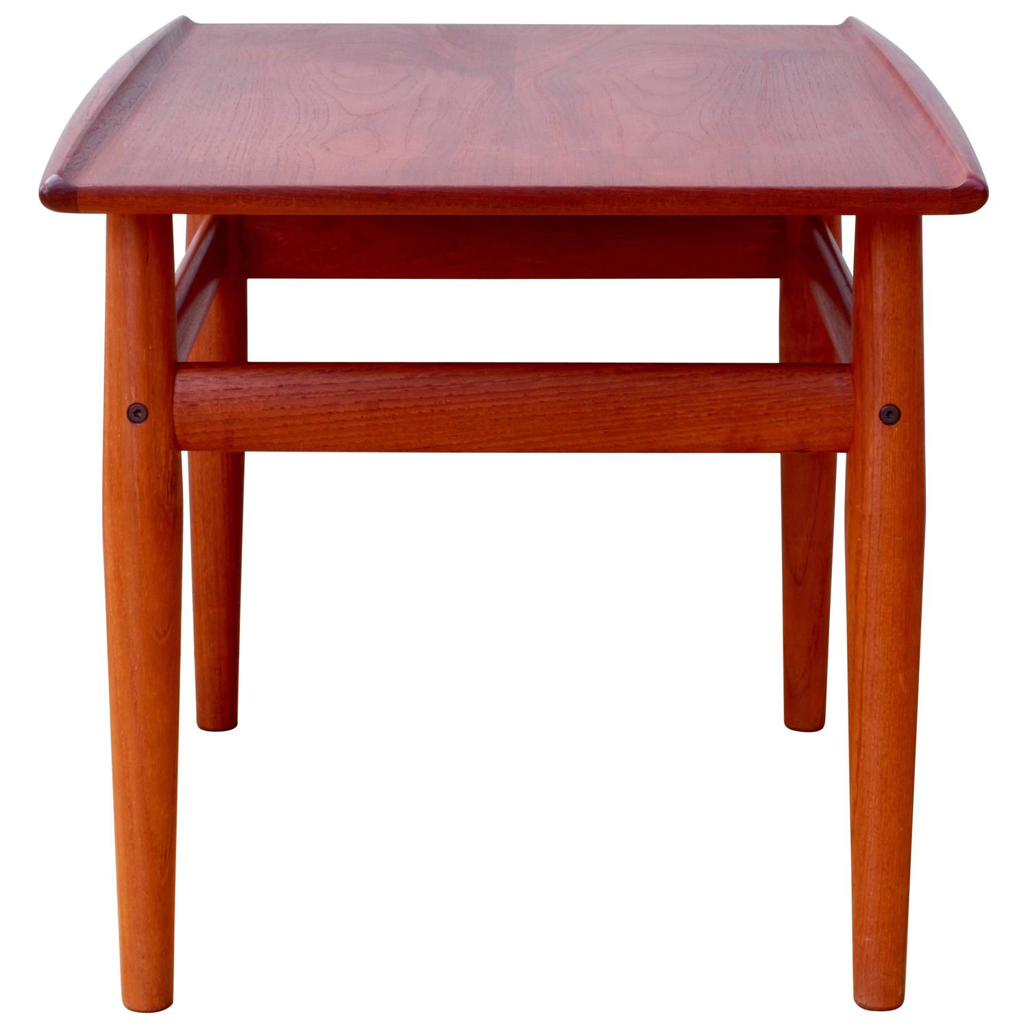 Mid Century Danish Solid Teak Side or End Table by Grete Jalk for