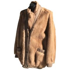 Chic 1970s Pierre Balmain Mink Cardigan Jacket