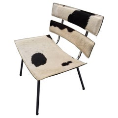 Cowhide and Chrome Eames Style Chair